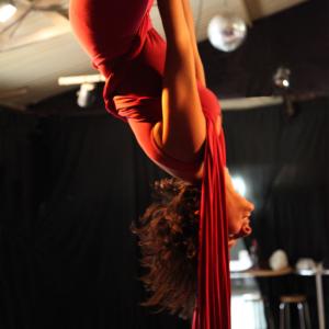 Acrobacia aérea, Telas acrobáticas, Trapecio.